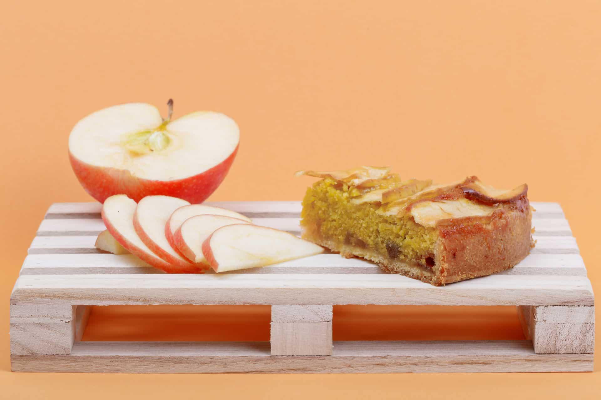 fetta di torta di mele